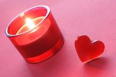 Decoración de la tarjeta del día de San Valentín Foto de archivo