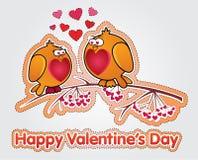 Decoración de la tarjeta del día de San Valentín Imagen de archivo libre de regalías
