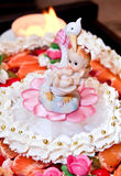 Decoración de la torta Fotos de archivo libres de regalías