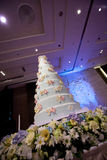 Decoración de la torta para la ceremonia de boda Fotos de archivo