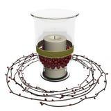 Decoración de la vela Imagen de archivo libre de regalías