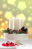Decoración de la vela de la Navidad Imagen de archivo