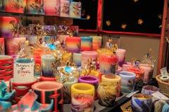 Decoración de la vela de la Navidad Fotografía de archivo