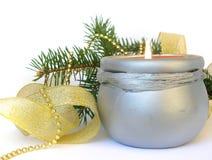 Decoración de la vela y de la Navidad imagen de archivo libre de regalías