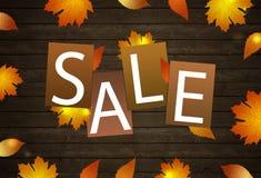 Decoración de la venta del otoño stock de ilustración