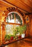 Decoración de la ventana de la Navidad Fotos de archivo
