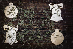 Decoración de las agujas de Noel- Imagenes de archivo