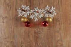 Decoración de las bolas de la Navidad Imagen de archivo