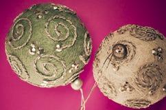 decoración de las bolas del árbol de navidad fotografía de archivo