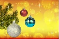 Decoración de las bolas de la Navidad en fondo abstracto del bokeh fotos de archivo libres de regalías