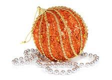 Decoración de las bolas por Año Nuevo y la Navidad Fotos de archivo