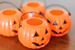 Decoración de las calabazas de Halloween Imágenes de archivo libres de regalías