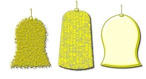 Decoración de las campanas de la Navidad Foto de archivo libre de regalías