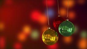 Decoración de las chucherías de Navidad almacen de metraje de vídeo