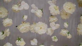 Decoración de las flores blancas metrajes