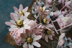 Decoración de las flores de papel Fotografía de archivo