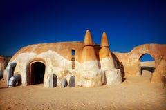 Decoración de las Guerras de las Galaxias en el desierto de Sáhara Imagenes de archivo