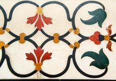 Decoración de las piedras preciosas, paredes de Taj Mahal Imagen de archivo libre de regalías