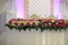Decoración de las rosas de la boda Imágenes de archivo libres de regalías