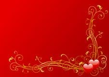 Decoración de las tarjetas del día de San Valentín Imágenes de archivo libres de regalías