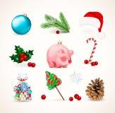 Decoración de las vacaciones de invierno  stock de ilustración
