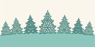 Decoración de los árboles de navidad del Libro Verde Foto de archivo