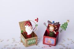 Decoración de los Años Nuevos y de la Navidad Fotografía de archivo