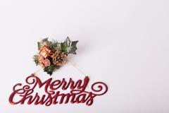 Decoración de los Años Nuevos y de la Navidad Foto de archivo libre de regalías