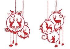 Decoración de los ciervos de la Navidad, vector Foto de archivo libre de regalías