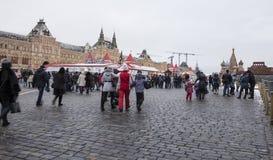 Decoración de los días de fiesta del Año Nuevo de la Navidad, Plaza Roja en Moscú, Rusia Fotos de archivo libres de regalías