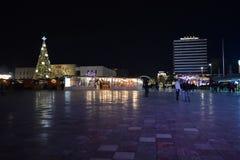 Decoración de los días de fiesta de Tirana fotos de archivo libres de regalías