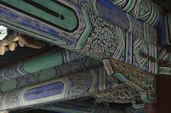 Decoración de los edificios eligious Pekín China del templo del Templo del Cielo Tiantan Daoist Foto de archivo libre de regalías