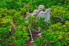 Decoración de los esqueletos de Víspera de Todos los Santos Imágenes de archivo libres de regalías