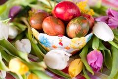 Decoración de los huevos de Pascua Foto de archivo libre de regalías