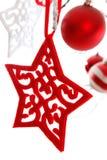 Decoración de los ornamentos de las chucherías de la Navidad Fotos de archivo libres de regalías