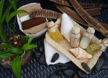 Decoración de lujo de los accesorios de la salud de la belleza del balneario del baño del cuerpo Imagenes de archivo