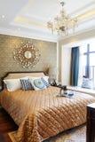 Decoración de lujo del dormitorio Fotos de archivo