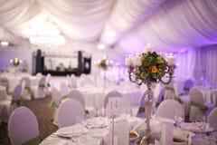 Decoración de lujo elegante de la tabla de la boda Imágenes de archivo libres de regalías