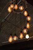 Decoración de lujo retra hermosa de la lámpara de la iluminación interior Fotografía de archivo libre de regalías