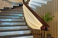 Decoración de mármol de las escaleras Fotos de archivo