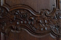 Decoración de madera Fotografía de archivo libre de regalías