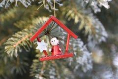 Decoración de madera de la Navidad Fotos de archivo