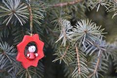 Decoración de madera de la Navidad Fotografía de archivo
