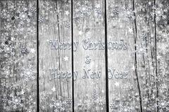 Decoración de madera de Navidad y del Año Nuevo Imagen de archivo