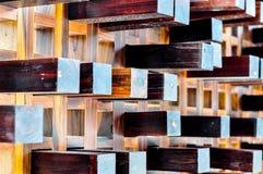 Decoración de madera del arte Imágenes de archivo libres de regalías