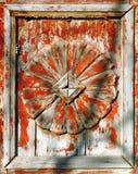 Decoración de madera para las puertas Fotos de archivo