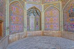 Decoración de Nasir al-Mulk Mosque Foto de archivo