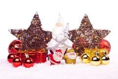 Decoración de Navidad aislada en blanco Imagenes de archivo
