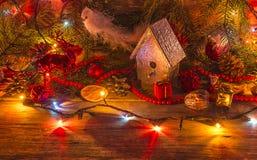 Decoración de Navidad de Illumidated Imágenes de archivo libres de regalías