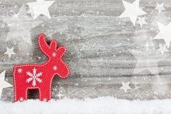 Decoración de Navidad en fondo de madera fotografía de archivo